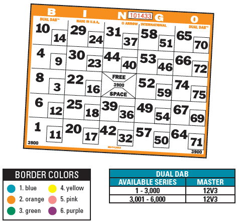 with dual dab bingo paper create new excitement during your early bird matinee and night owl sessions or special games